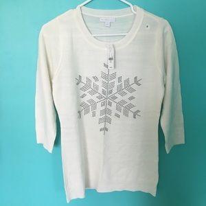 NY&Co white sweater